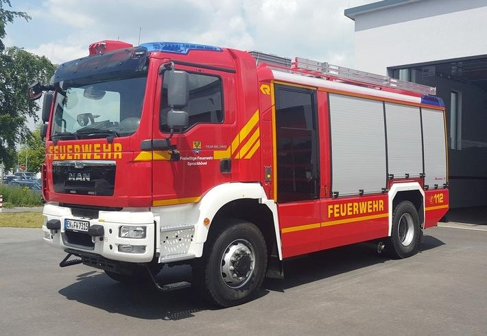 Tanklöschfahrzeug (TLF 4000) der Freiwilligen Feuerwehr Sprockhövel