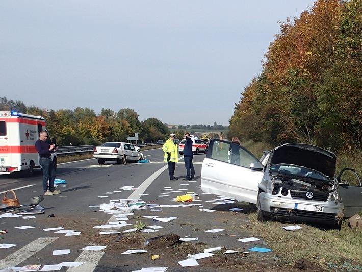 POL-VDMZ: Verkehrsunfall - Vier Verletzte