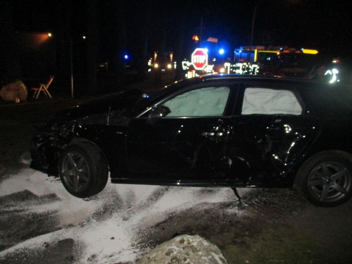 Audi an der Unfallstelle