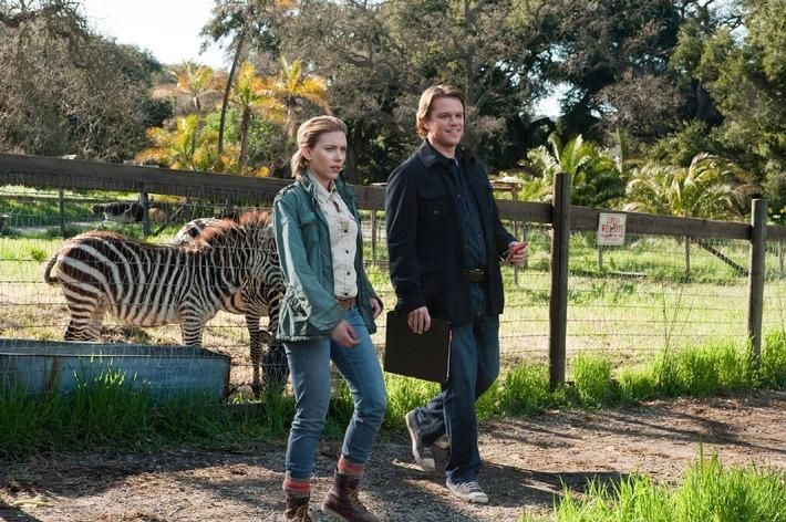 """Erstklassiges Konsumklima: """"Wir kaufen einen Zoo"""" mit Matt Damon und Scarlett Johansson am 10. August 2014 auf ProSieben"""