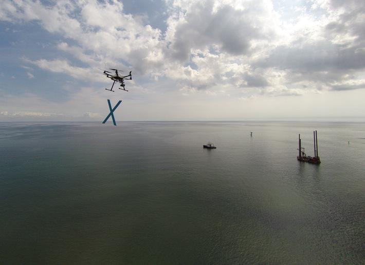 Norddeutscher Widerstand mit Drohne