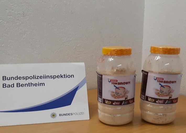BPOL-BadBentheim: Zwei Kilo eines Kokaingemisches beschlagnahmt / Gesuchter Drogenschmuggler in Untersuchungshaft