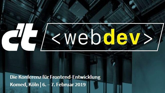 """c't webdev - Die neue Konferenz für Frontend-Entwicklung. Weiterer Text über ots und www.presseportal.de/nr/7833 / Die Verwendung dieses Bildes ist für redaktionelle Zwecke honorarfrei. Veröffentlichung bitte unter Quellenangabe: """"obs/c't"""""""