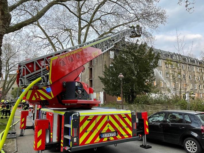 FW-GE: Schlussmeldung zu dem Feuer in einem leerstehenden Gebäude in Gelsenkirchen-Ückendorf