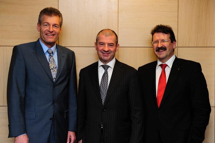 Heinz Karrer (Axpo), Giovanni Leonardi (Alpiq), Kurt Rohrbach (BKW FMB Energie SA)