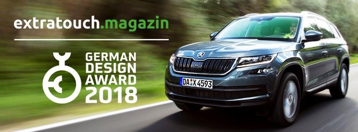 SKODA Online-Magazin extratouch gewinnt beim renommierten German Design Award