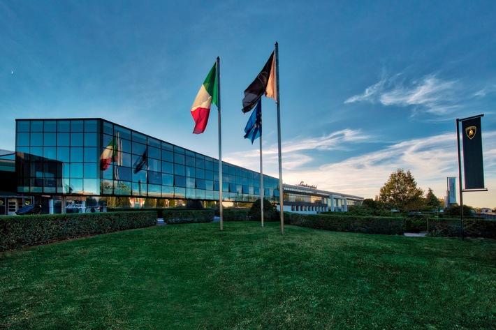 """Automobili Lamborghini Headquarters. / Weiterer Text über ots und www.presseportal.de/nr/133303 / Die Verwendung dieses Bildes ist für redaktionelle Zwecke honorarfrei. Veröffentlichung bitte unter Quellenangabe: """"obs/Automobili Lamborghini S.p.A./Umberto Guizzardi"""""""