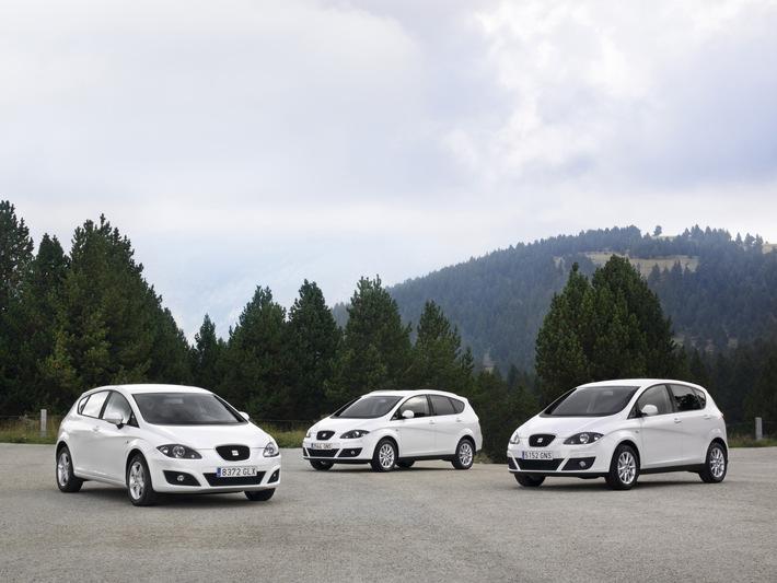 SEAT Leon: nur 99 g/km CO2 (mit Bild) / Die neuen SEAT ALTEA und LEON ECOMOTIVE Modelle