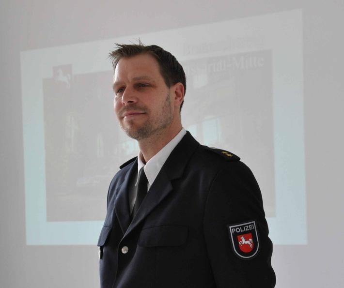 Der neue Leiter des Polizeikommissariates Mitte, Herr Polizeioberrat Oliver Meyer