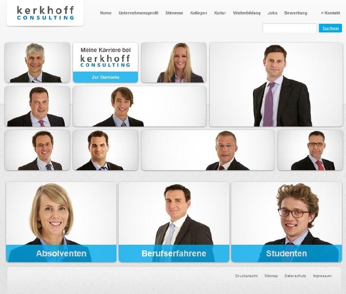 Kerkhoff Consulting mit neuer Karriere-Website