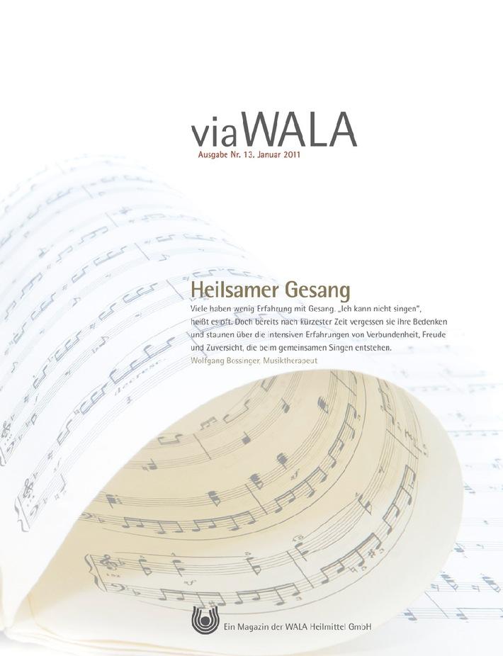 """Die neue Ausgabe der Kundenzeitschrift der WALA Heilmittel GmbH liegt ab sofort im Handel aus. Die Verwendung dieses Bildes ist für redaktionelle Zwecke honorarfrei. Veröffentlichung bitte unter Quellenangabe: """"obs/WALA Heilmittel GmbH"""""""