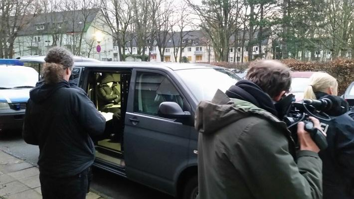 Festnahme eine Beschuldigten in Berlin