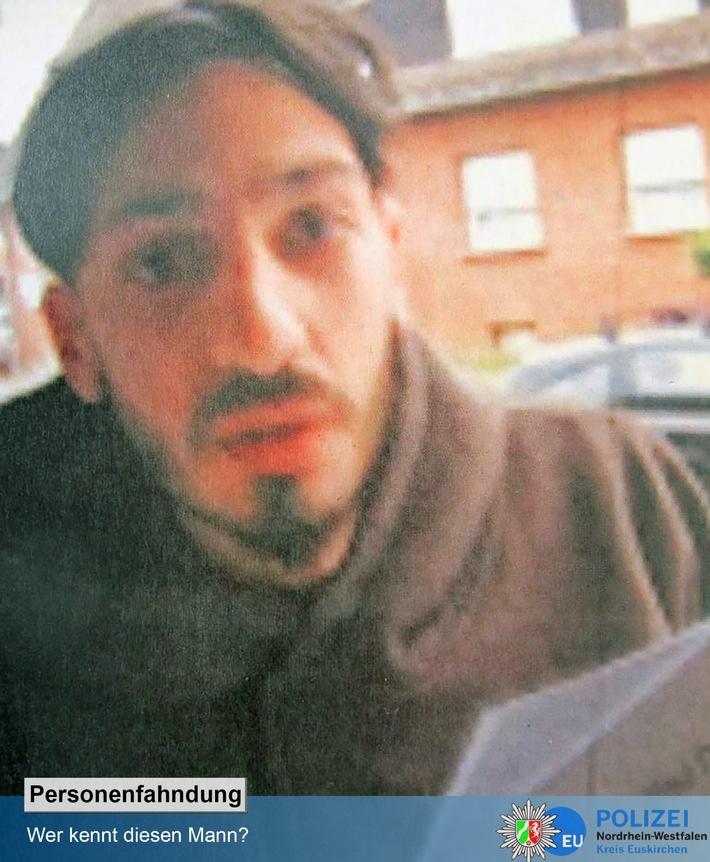 POL-EU: Fotofahndung: Polizei bittet um Mithilfe - Wer kennt diesen Mann? - Kripo ermittelt