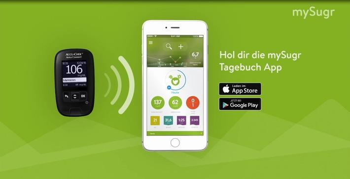 Diabetes Management per Smartphone: Roche Diabetes Care und mySugr starten Kooperation