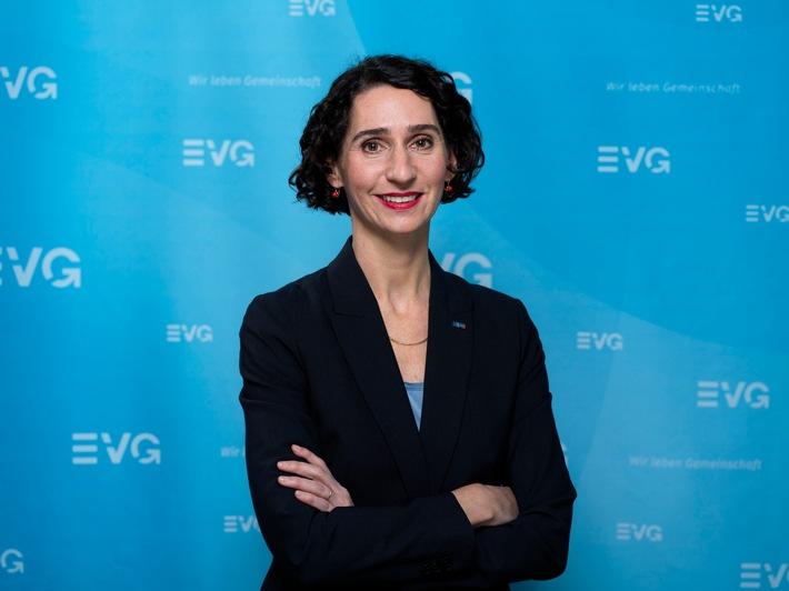 EVG-Bundesgeschäftsführerin: Cosima Ingenschay / Weiterer Text über ots und www.presseportal.de/nr/150063 / Die Verwendung dieses Bildes ist für redaktionelle Zwecke honorarfrei. Veröffentlichung bitte unter Quellenangabe: