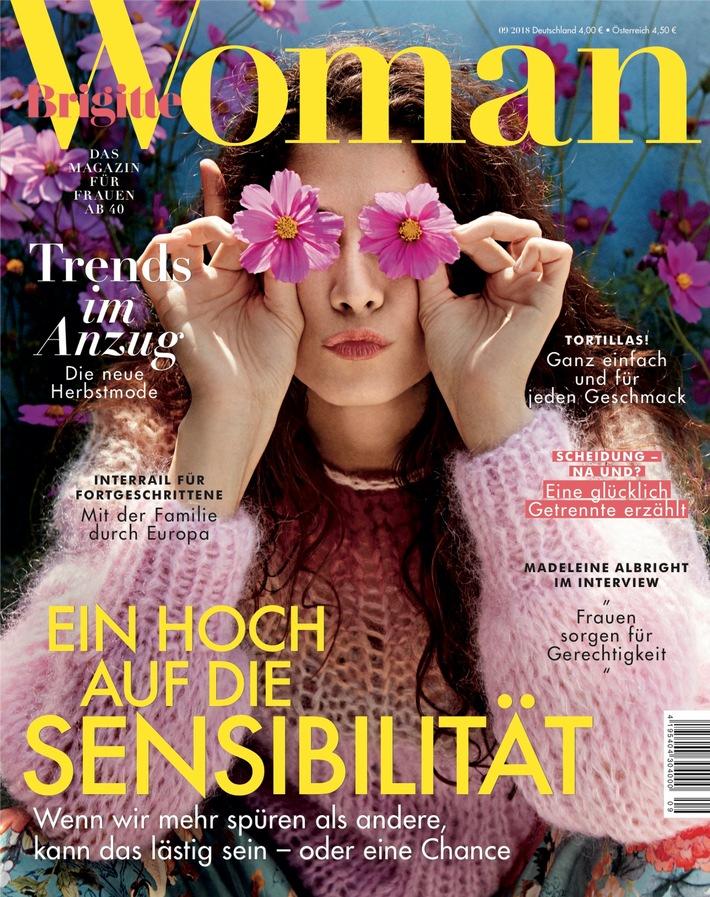 Cover BRIGITTE WOMAN 09/2018 / Weiterer Text ber ots und www.presseportal.de/nr/63183 / Die Verwendung dieses Bildes ist fr redaktionelle Zwecke honorarfrei. Verffentlichung bitte unter Quellenangabe: