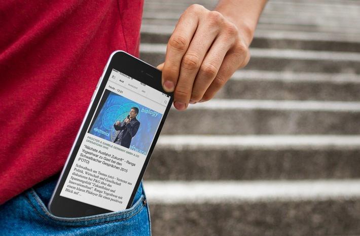 Neue Presseportal App jetzt mit individueller Startseite