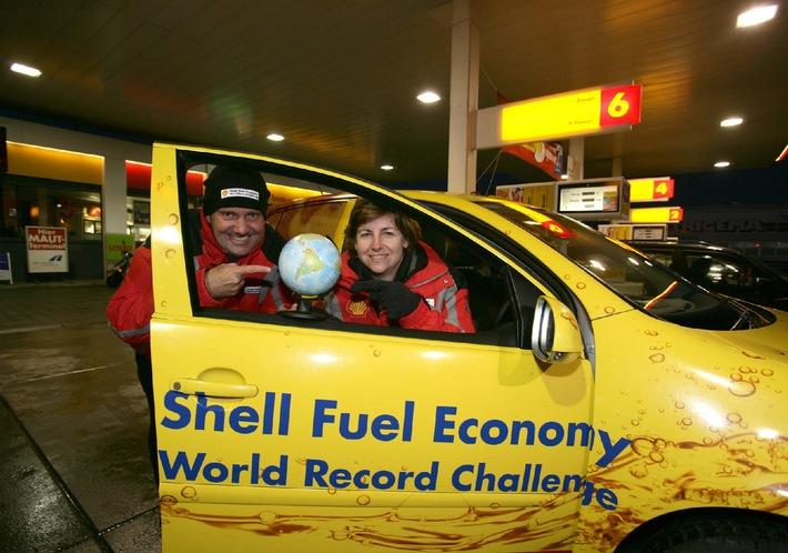 Auf dem Weg zum Benzinspar-Weltrekord