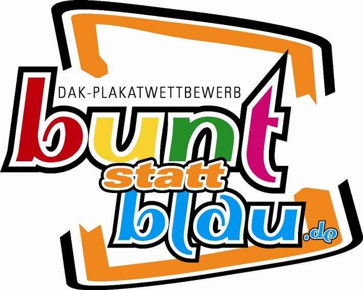 """Logo """"bunt statt blau - Kunst gegen Komasaufen"""". Weiterer Text über ots und www.presseportal.de/nr/50313 / Die Verwendung dieses Bildes ist für redaktionelle Zwecke honorarfrei. Veröffentlichung bitte unter Quellenangabe: """"obs/DAK-Gesundheit"""""""