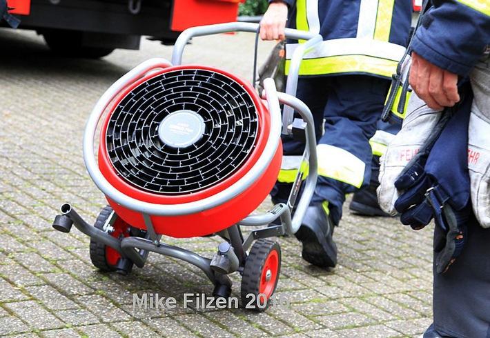 FW-E: Zimmerbrand in Haarzopf - eine verletzte Person