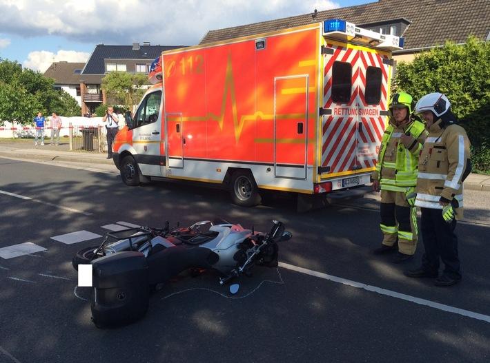 FW-Stolberg: Motorradfahrerin bei Unfall schwer verletzt