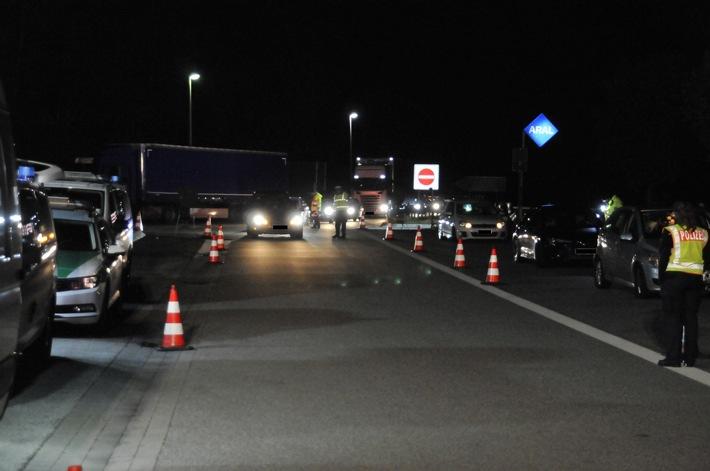 Kontrolle der Autobahnpolizei
