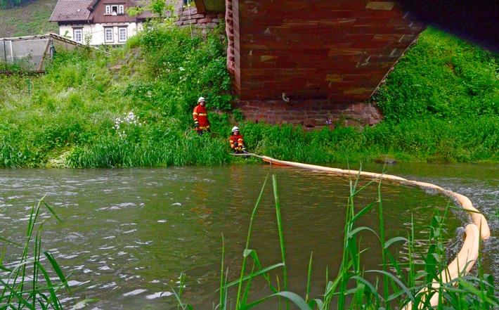 FW-CW: Olfilm auf dem Fluss Nagold bei der Station Teinach