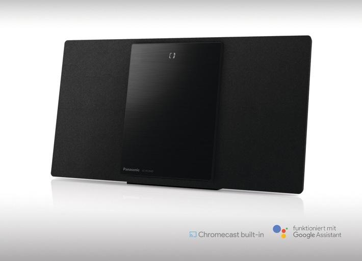 Panasonic Micro HiFi System SC-HC2040 mit Chromecast built-in / Musikstreaming und Multiroom-Audio leicht gemacht