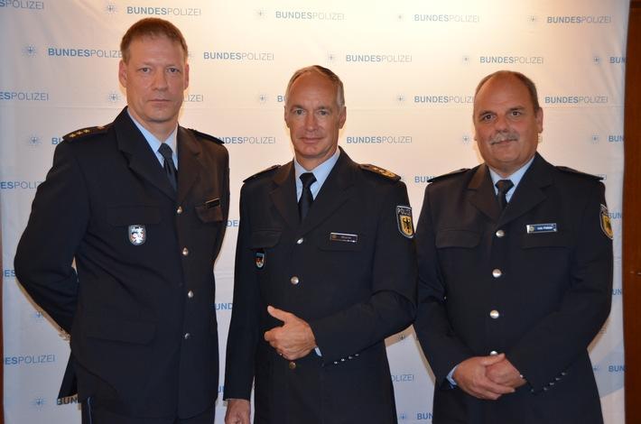 v.l.n.r. Polizeidirektor Scharfscheer, Präsident Wurm, Polizeidirektor Peltzer