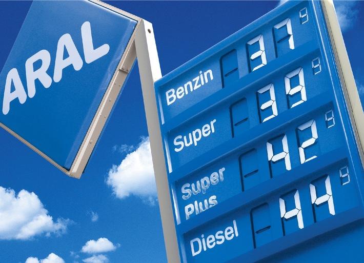 """Ohne Steuern zaehlen die deutschen Benzinpreise zu den viertniedrigsten in der EU. Die Verwendung dieses Bildes ist für redaktionelle Zwecke honorarfrei. Abdruck bitte unter Quellenangabe: """"obs/Aral Aktiengesellschaft"""""""