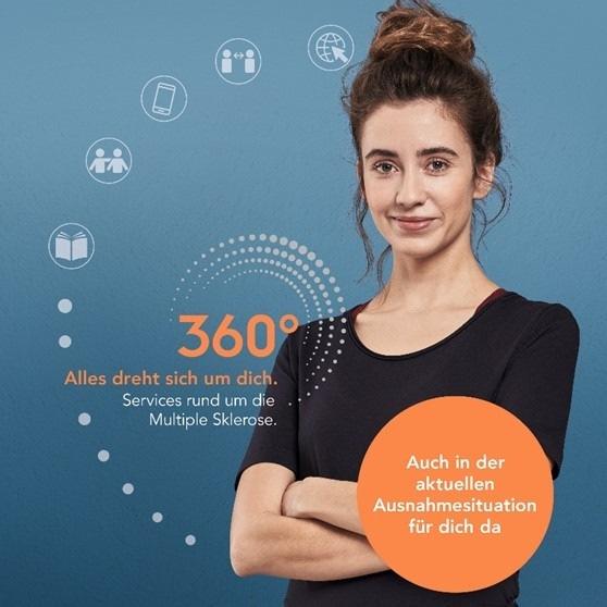 """360° - Alles dreht sich um dich. Weiterer Text über ots und www.presseportal.de/nr/102449 / Die Verwendung dieses Bildes ist für redaktionelle Zwecke honorarfrei. Veröffentlichung bitte unter Quellenangabe: """"obs/Biogen GmbH"""""""