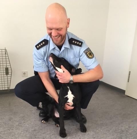 BPOLI S: Hund in Zugtoilette ausgesetzt