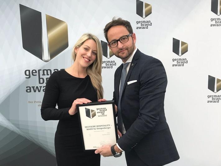 Pressemitteilung: MAXX by Steigenberger gewinnt den German Brand Award 2018