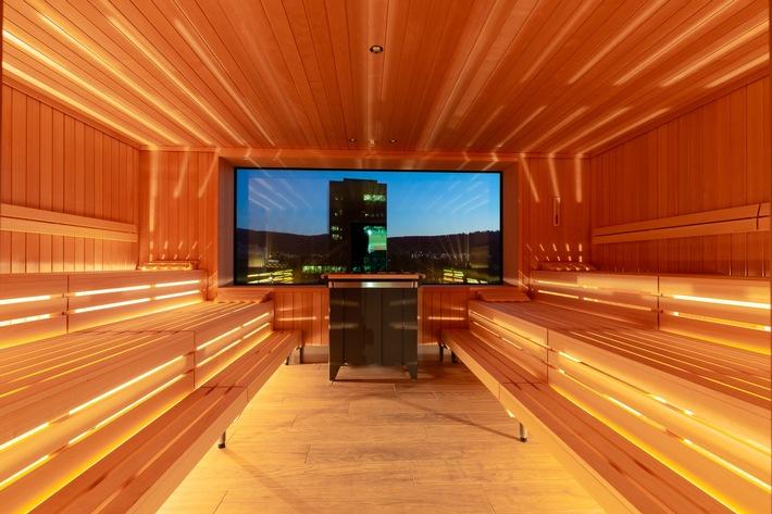 Entspannung pur verspricht der grosszügige Wellnessbereich im fünften Stock (c)Christopher Tiess für a-ja Resort und Hotel GmbH