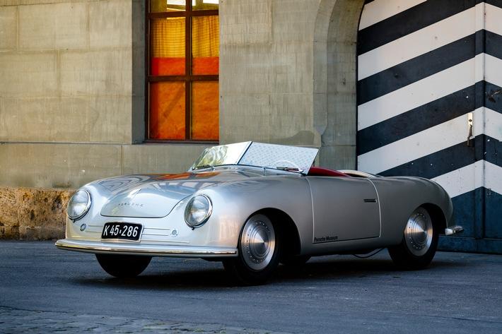 """Porsche 356 """"Nr. 1"""" Roadster in der Schweiz, 2018 Weiterer Text über ots und www.presseportal.ch/de/nr/100050872 / Die Verwendung dieses Bildes ist für redaktionelle Zwecke honorarfrei. Veröffentlichung bitte unter Quellenangabe: """"obs/Porsche Schweiz AG/Porsche/Dirk Michael Deckbar"""""""