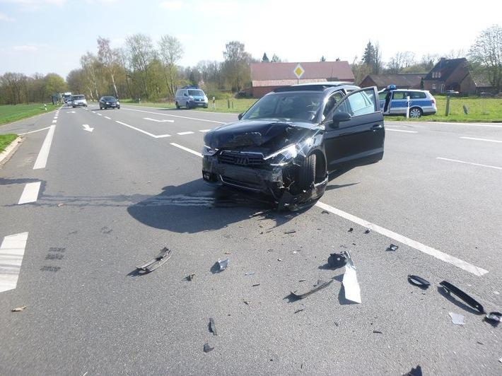 Wrestedt, OT. Esterholz - Vorfahrt missachtet - zwei Verletzte