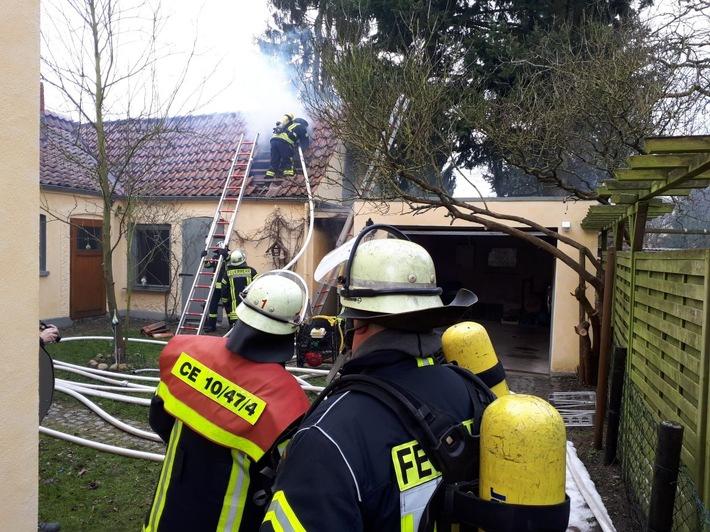Die Feuerwehr verhinderte einen größeren Schaden.