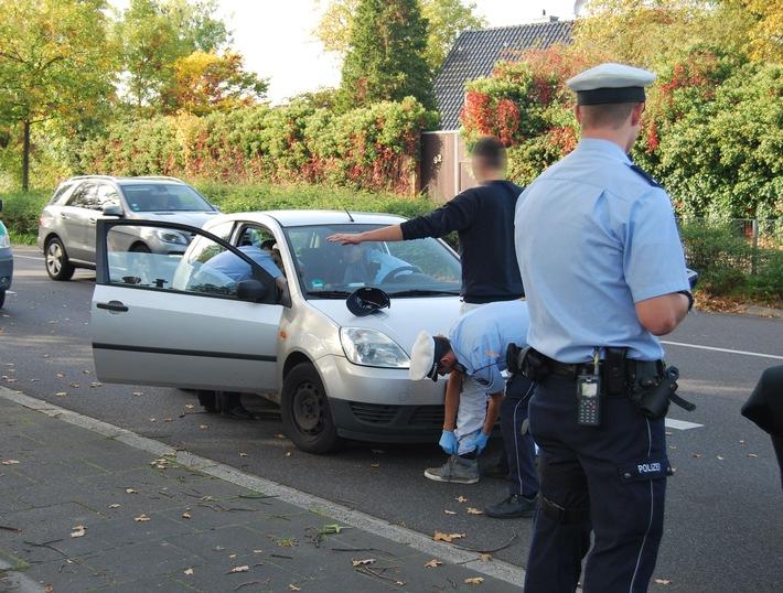 Verkehrskontrolle (Verdacht Drogenkonsum) der Polizei im Rhein-Kreis Neuss (Symbolfoto: Polizei)