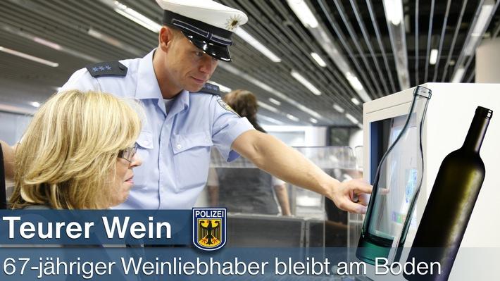 Wein kommt Fluggast am Frankfurter Flughafen teuer zu stehen