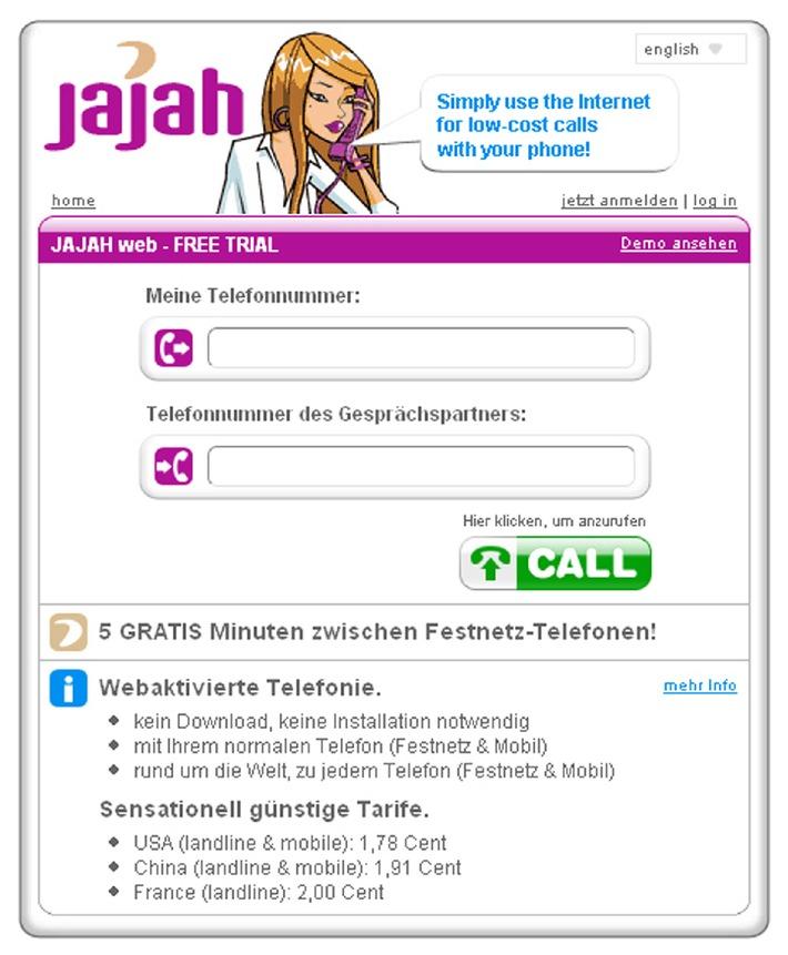 VoIP News: JAJAH bringt webaktivierte Telefonie