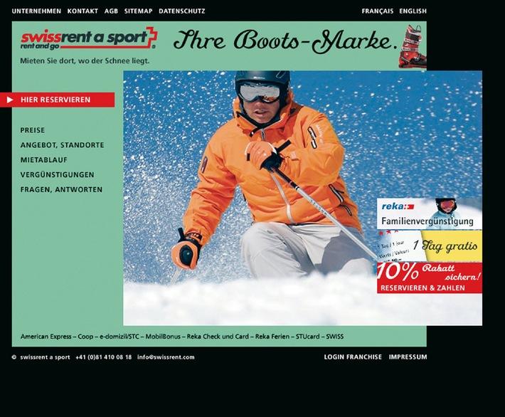 swissrent a sport - Neue Online-Dienstleistung: komfortabel buchen