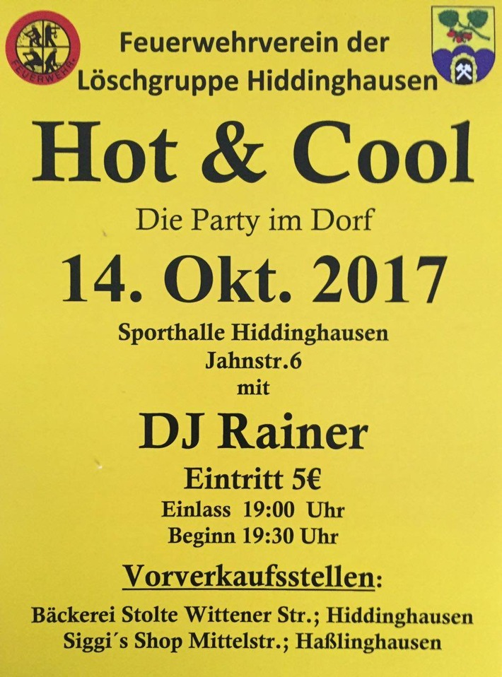 FW-EN: Hot & Cool - Die Party im Dorf