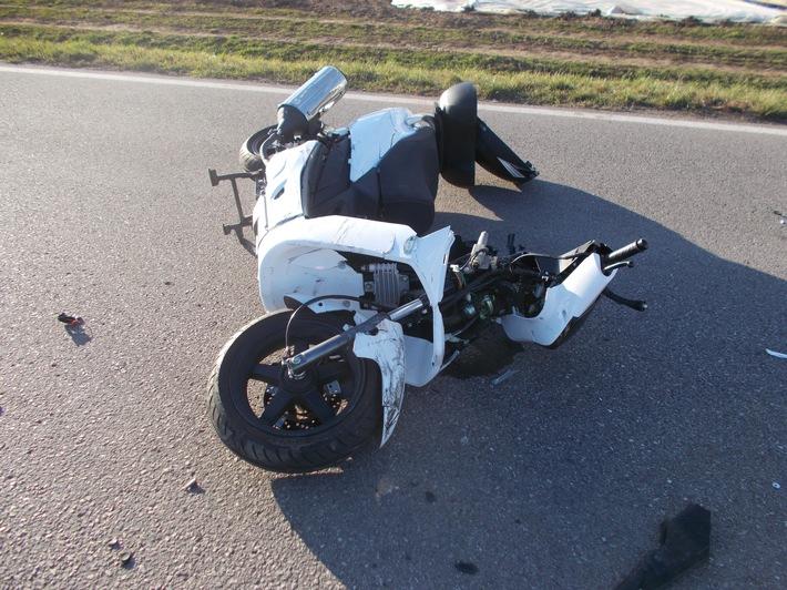 POL-PDLU: Lambsheim - Schwerer Verkehrsunfall beim Umspannwerk