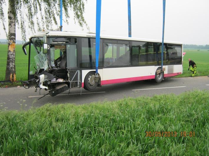 POL-HI: Nachtrag zu Verkehrsunfall mit Linienbus (30.05.15, 19:55 Uhr)
