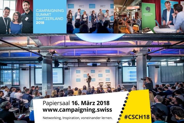 Der Campaigning Summit Switzerland vertritt die Schweizer Campaigning-Branche