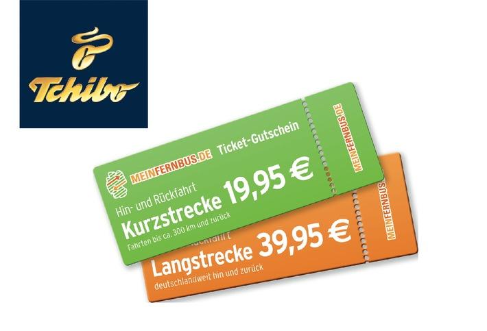 Mit Tchibo kreuz und quer durch Deutschland: Fernbus-Tickets zum Sonderpreis