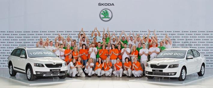 Meilenstein: einmillionster SKODA Octavia der dritten Generation produziert