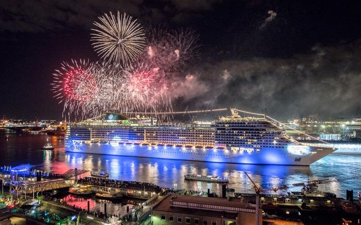 Ahoi in Hamburg: MSC Splendida und MSC Silvia bringen den Hafen zum Leuchten