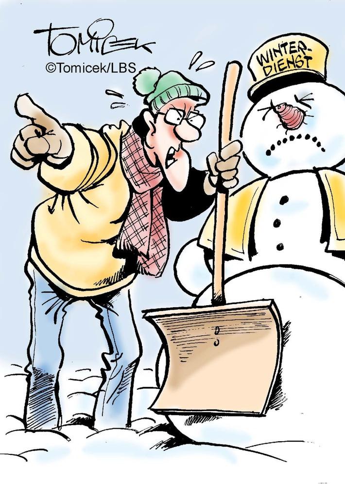"""Wenn rutschige Bodenbeläge aus Schnee, Eis und Matsch für juristische Streitfälle sorgen. Das Problem ist: Man weiß nie, wann es so weit ist. Binnen weniger Tage können die Temperaturen in Richtung Nullpunkt oder darunter sinken. Wenn dann noch Eisregen und Schnee dazu kommen, wird es auf Straßen und Wegen plötzlich gefährlich. Von einem Moment auf den anderen werden in der Folge die Grundstücksbesitzer verkehrssicherungspflichtig. Weiterer Text über ots und www.presseportal.de/nr/35604 / Die Verwendung dieses Bildes ist für redaktionelle Zwecke honorarfrei. Veröffentlichung bitte unter Quellenangabe: """"obs/Bundesgeschäftsstelle Landesbausparkassen (LBS)/Bundesgeschäftsstelle LBS"""""""