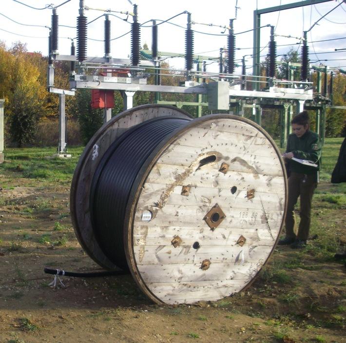POL-DN: Kabeldiebe rollten sich fest